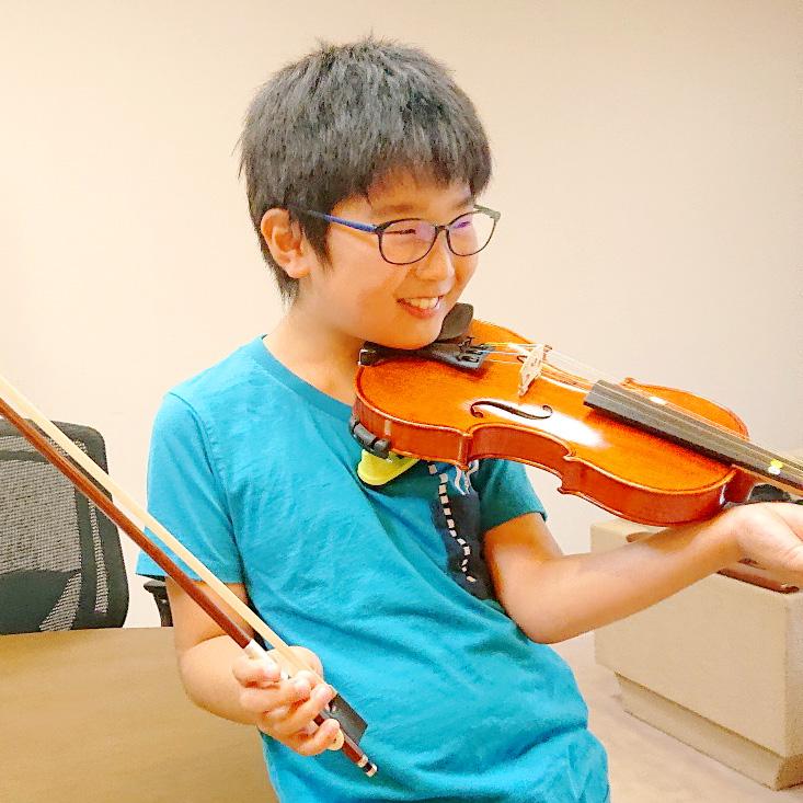 バイオリンレッスンの様子