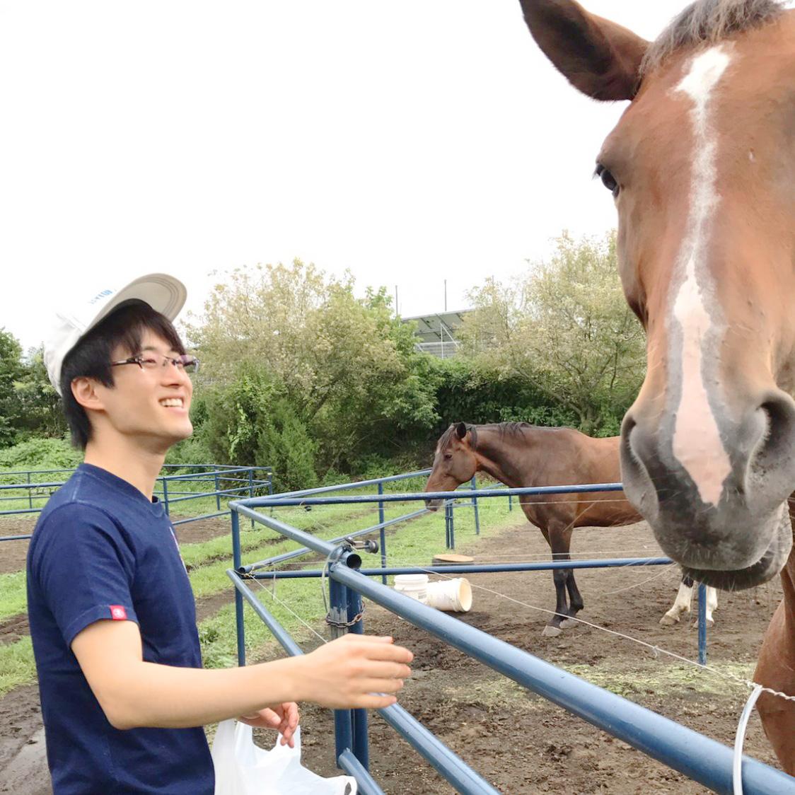 講師と馬の写真